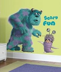 Monsters, Inc. Skully & Boo Giant Wall Decal - RMK2012SLM  - foto 2