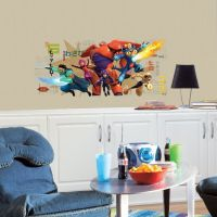 Big Hero 6 Wall Graphix Giant Wall  Decal - RMK2633GM