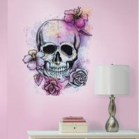 Bright Floral Skull Giant Wall Decal - RMK3056SLM