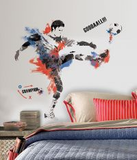 Men's Soccer Champion Peel and Stick Giant Wall Decal - RMK2490GM